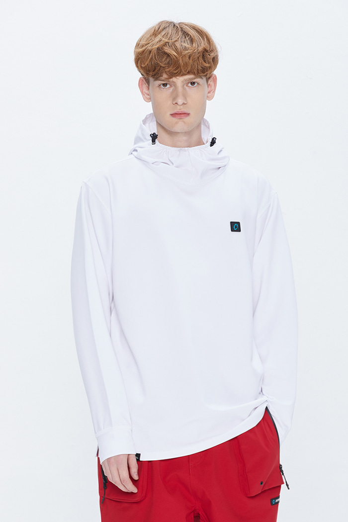 Solid Hoodie White