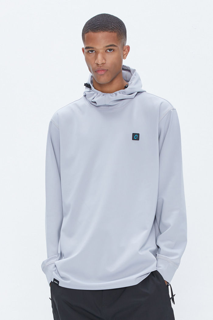 Solid Hoodie Gray
